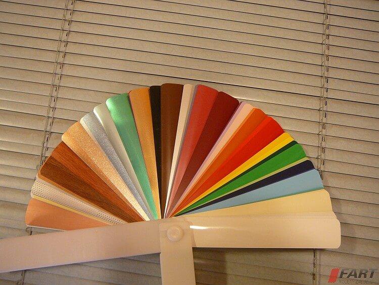 żaluzje aluminiowe na wymiar kolory
